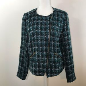 Lucky Brand Collection Tweed Blazer Jacket - Large